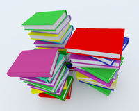 Stacks of coloured books Royalty Free Stock Photography