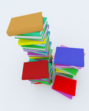 Stacks of coloured books Stock Photography