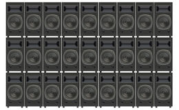 Stacks concert loudspeakers Royalty Free Stock Images