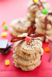 Stacks of cookies tied with ribbon Royalty Free Stock Images