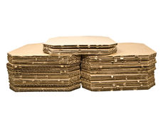 Stacks of Corrugated Cardboard royalty free stock photography