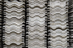 Stacks of Corrugated Roof#1. The stacks of corrugated roof have been left dry by sunlight stock illustration