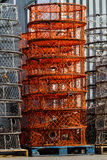 Stacks of Crab Pots Royalty Free Stock Images