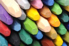 Stacks Of Crayon Stock Photography