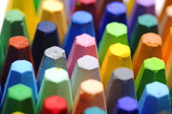 Stacks Of Crayon Stock Image