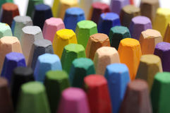 Stacks Of Crayon Royalty Free Stock Photography