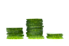 Stacks of cucumber Stock Photo
