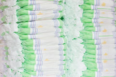 Stacks of diapers Stock Image
