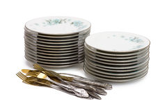 Stacks of dishware Stock Image