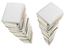 Stacks of documents. Huge stacks of documents isolated on white Royalty Free Stock Photo