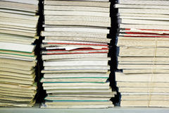 Stacks of documents Royalty Free Stock Photo