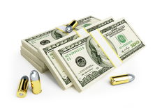 Stacks of dollars cartridge Royalty Free Stock Photo