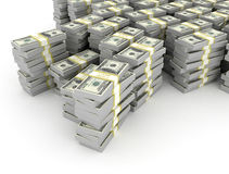 Stacks of dollars Royalty Free Stock Image
