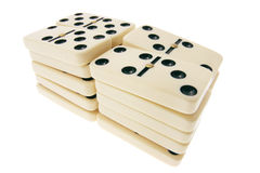 Stacks of Dominoes Stock Images