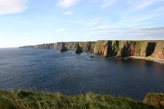 Stacks of Duncansby. Rock stacks eroded by the North Sea near John o' Groats Royalty Free Stock Images