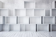 Stacks of empty boxes Stock Image
