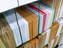 Stacks of envelopes Stock Photo