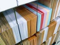 Stacks of envelopes. In shelves Stock Photo