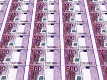 Stacks of Euro notes. 3D render of stacks of 500 Euro currency notes Stock Photography