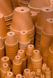 Stacks  of flowerpots. Stacks of flowerpots on garden market Stock Images
