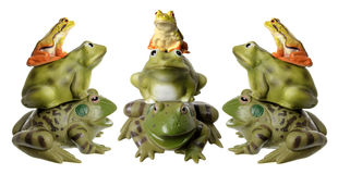 Stacks of Frog Figurines Royalty Free Stock Image