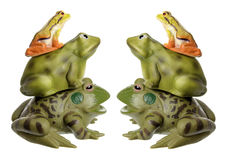 Stacks of Frog Figurines Royalty Free Stock Photography