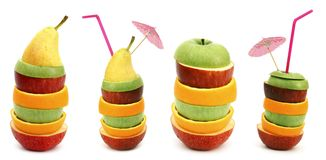 Stacks of fruit slices Royalty Free Stock Images
