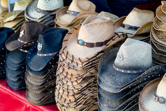 Stacks of fun cowboy hats Stock Image