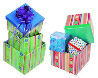 Stacks of Gift Boxes Stock Photo