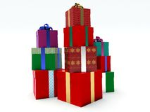 Stacks of gift boxes. Stock Image