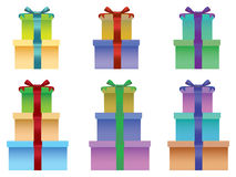 Stacks of Gift Boxes Vector Illustration Royalty Free Stock Images