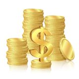 Stacks of gold coins Royalty Free Stock Photography