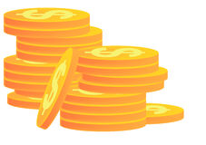 Stacks of Gold Coins Royalty Free Stock Image