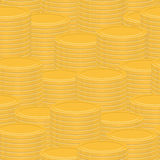 Stacks of gold coins - abstract vector texture Stock Images