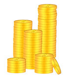 Stacks of Gold Coins Bullion Illustration Royalty Free Stock Photos
