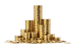 Stacks of a golden coins Stock Photography