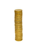 Stacks of golden coins. Royalty Free Stock Photography