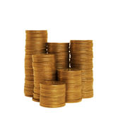 Stacks of golden coins Royalty Free Stock Photography
