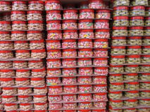 Stacks of goodies for the Chinese New Year Stock Photo