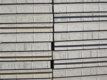 Stacks of grey plaster stones Stock Images