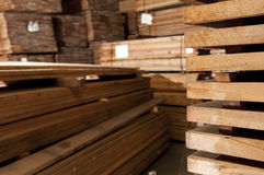 Stacks of hardwood Royalty Free Stock Photography