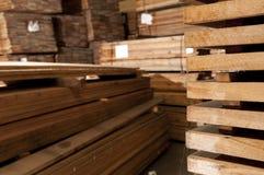 Stacks of hardwood Royalty Free Stock Photography