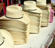 Stacks of Hats. Stacks of Cowboy Hats stock photos