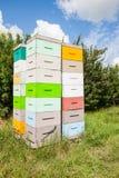 Stacks Of Honeycomb Crates Royalty Free Stock Photo