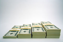Stacks of Hundred Dollar Bills Stock Photography