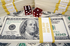 Stacks of Hundred Dollar Bills Royalty Free Stock Images