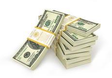 Stacks of Hundred US Dollars. Royalty Free Stock Image