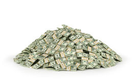 Stacks of Hundred US Dollars. Royalty Free Stock Photo