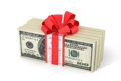 Stacks of Hundred US Dollars. 3d illustration Stock Photo