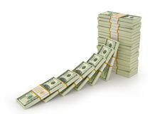 Stacks of Hundred US Dollars. Stock Photos